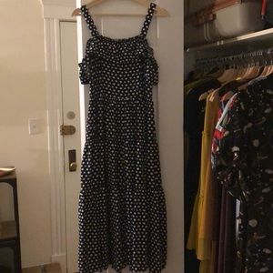 Maison Jules Polka Dot Maxi Dress